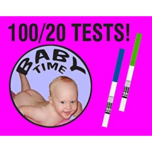 100 Ovulation tests, 20 Pregnancy tests and Ovulation Chart!