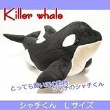 シャチのぬいぐるみ 「シャチくん」Lサイズ/海の動物ぬいぐるみシリーズ