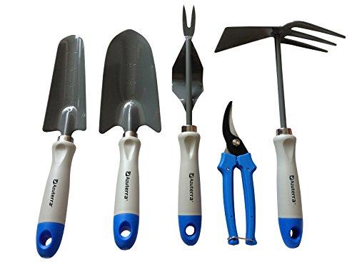 herramientas-de-jardineria-5-piezas-paleta-pala-deshierbadora-tijeras-de-podar-y-doble-azada-de-azut