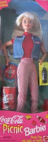 Barbie Coca Cola Picnic Doll W Coca Cola Frisbee, 'Bottle Of Coke' & More Special Edition (1997) front-793778