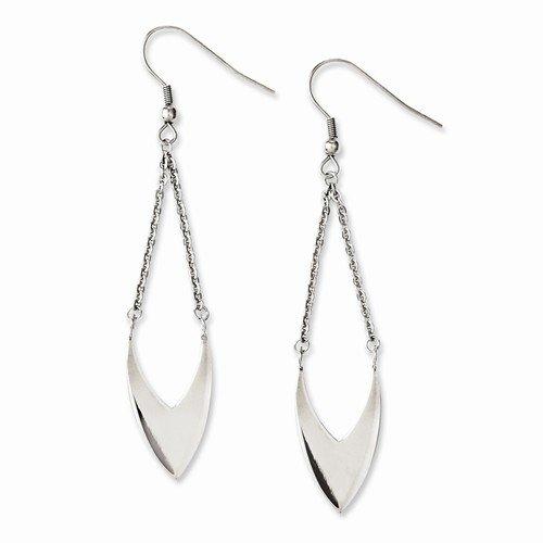 Fancy Dangle Earrings - Stainless Steel - Shepherd Hook - 3.5Gr