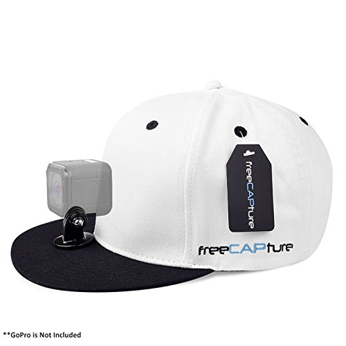 Hat Compatible with Removable GoPro Camera Head Mount - Hero Action Camcorder HD Edition - Go Pro 4 Silver, 3 + Black, 2 White, 1- Helmet Accessory Strap Caps Harness Studio Accessories (Small Browning Decal compare prices)