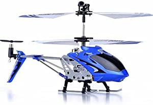 Syma S107G 3-Channel Infrared Controlled Helicopter with Gyroscopic Stability Control - Blue