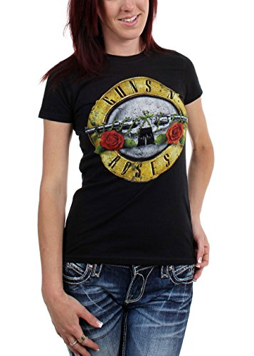 Guns n Roses - Womens Distressed Bullet T-Shirt - S to XL