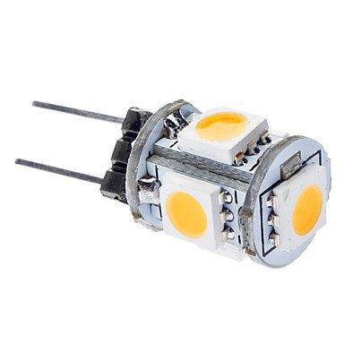 Blumenzwiebeln - G4 1 W 3000-3500K 65-75LM 5 x 5050 SMDs warmweißes Licht (DC 12 V) fürs Auto für LED Lampen