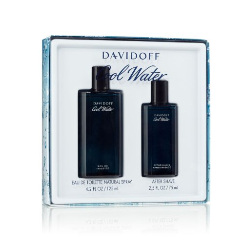 Cool Water By Davidoff For Men Edt Spray 4.2 Oz & Aftershave 2.5 Oz (Cool Water Gift Set compare prices)