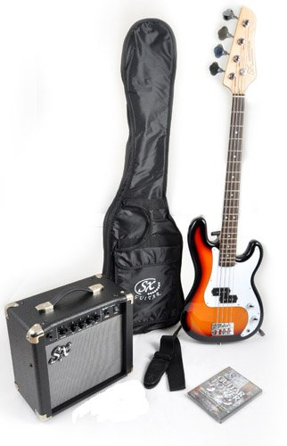 Ursa 1 JR RN PK 3TS 3 Tones Bass Guitar Package w/Amp Bag, Strap and Instructional DVD