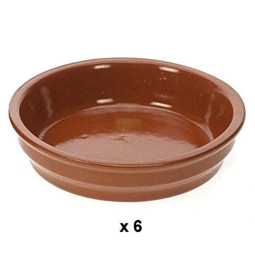 REVIMPORT - Ramequins à crème brûlée x 6 terre brune 13,5 cm*