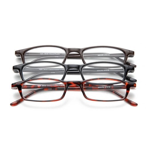 Optx 20/20 Classic Reading Glasses,  +450 (Pack of 3) (Readers 450 compare prices)