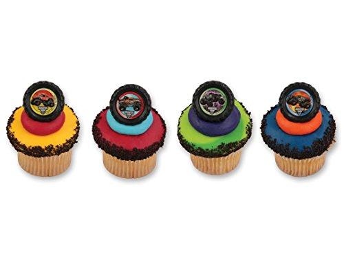 Monster Truck Jam Cupcake Rings - 24 ct