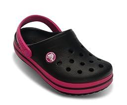 Crocs Infants/Toddlers Crocband,Black/Fuchsia,US 6 M