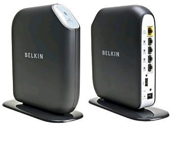 Belkin Share N300 - Router (10, 100 Mbit/s, 300 Mbit/s, Ethernet (RJ-45), ADSL, IEEE 802.11b, IEEE 802.11g, IEEE 802.11n, 16 usuario(s)) Negro