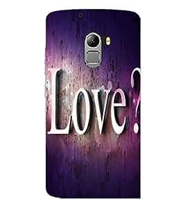 PrintDhaba Love Quote D-2814 Back Case Cover for LENOVO VIBE X3 LITE (Multi-Coloured)