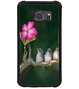 ColourCraft Lovely Birds Design Back Case Cover for SAMSUNG GALAXY S6