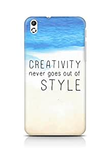 AMEZ creativity never goes out of style Back Cover For HTC Desire 816
