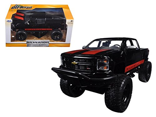 Jada 97476 2014 Chevrolet Silverado Black Pickup Truck Off Road 1-24 Diecast Model (Rc Die Cast compare prices)