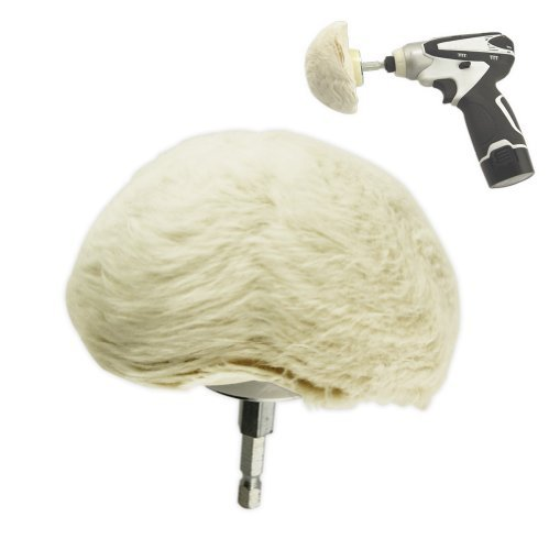 Extra-Thick Large Cotton Buffing Ball - Hex Shank - Turn Power Drill into High-Speed Polisher