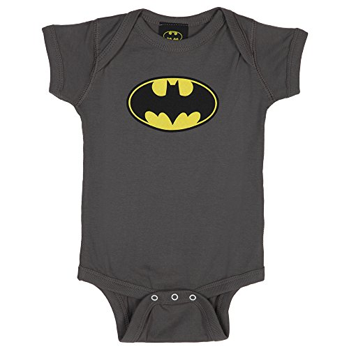 Trevco Batman-Classic Bat Logo - Infant Snapsuit - Charcoal, Small 6 Months (Small Wonders Baby Clothes compare prices)