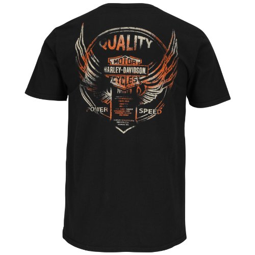 Harley-Davidson Mens Life Changer B&S Patented Black Short Sleeve T-Shirt - MD