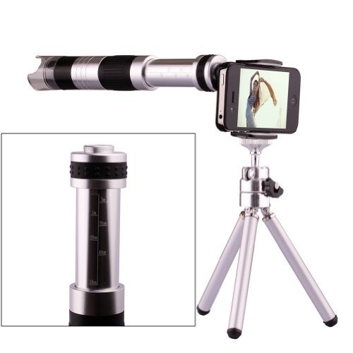 NEEWER 16x Zoom Camera Lens Microscope +Tripod + Case Cover For Iphone 4 4S