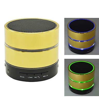Zcl Bluetooth V3.0 Usb Tf Card Fm Microphone Super Bass Portable Speaker , Gold