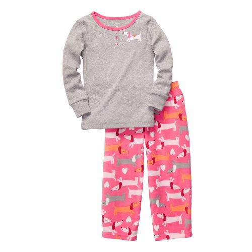 Carter'S 2-Pc L/S Embroidery Set - Pointelle Dogs- 2T front-1066021