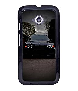 Crazymonk Premium Digital Printed Back Cover For Moto E234