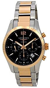 Longines Conquest Classic Automatic Chronograph Steel & 18k Rose Gold Mens Watch L2.786.5.56.7