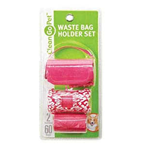 Clean Go Pet 2-Pack Safari Waste Bag Holder for Dogs and Cats, Leopard
