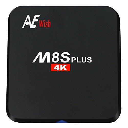 Buy ANEWISH M8S Plus Android TV Box, M8S+ 2G/16G Amlogic S905 Quad Core 4K 1000M Gigabit Lan, Fully ...
