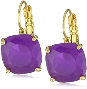 "kate spade new york ""Essentials"" Purple Small Square Lever Backs Earrings"
