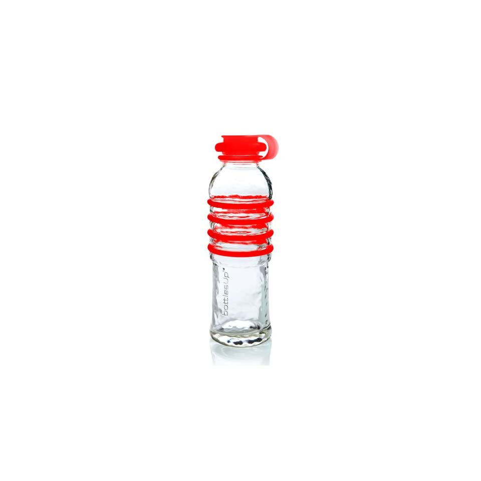 Bottles Up Glass Water Bottle   Red #BU RED