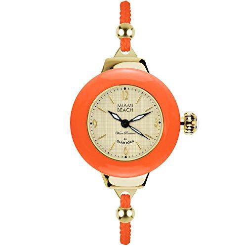 Glam Rock MBD27184 - Reloj para mujeres, correa de nailon color rosa