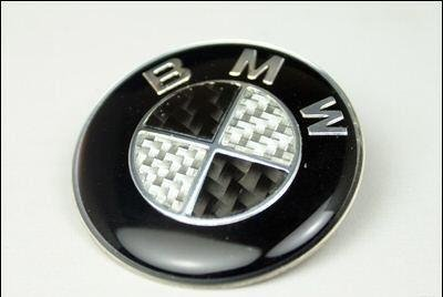BMW STEERING WHEEL EMBLEM Black/White EMB-SW BMW 1