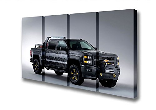 four-panel-chevrolet-silverado-black-ops-canvas-art-prints-double-xl-48-x-96-inches