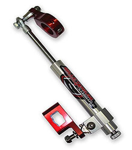 Streamline 7-Way Steering Stabilizer - Non Rebuildable - Red Bts-S54-R