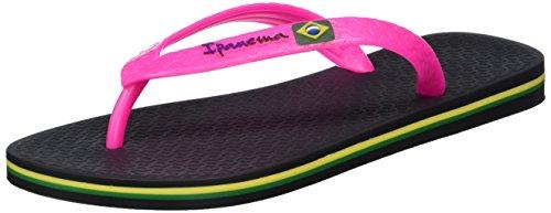 IpanemaClassica Brasil II FEM - Infradito Donna , Multicolore (Mehrfarbig (black pink 8018)), 39/40