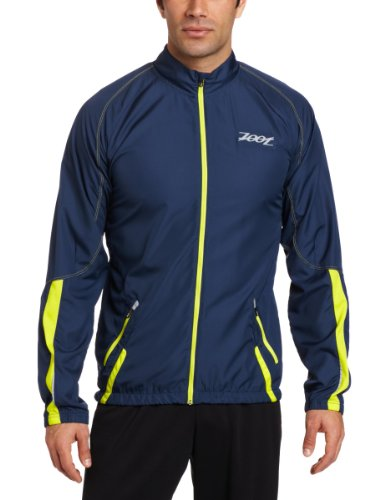 Zoot Sports Zoot Sports Men's Performance Flexwind Thermomegaheat Jacket (Insignia/Volt, Medium)