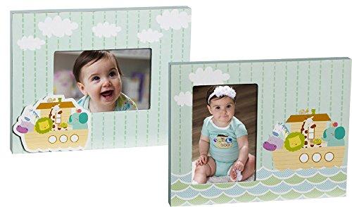 Noah's Ark 4 X 6 Wooden Picture Frames - Set of 2