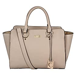 New Cathy London Women's Handbag, Material- Synthetic Leather, Colour- Beige
