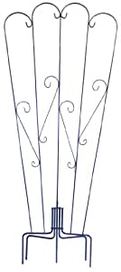 Quicor 15012 36-Inch Wide by 72-Inch Tall Free Standing Trellis, Large, Blue