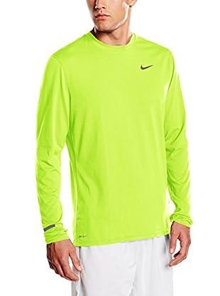 Nike Camiseta Manga Larga Dri-Fit Contour Ls (Verde)