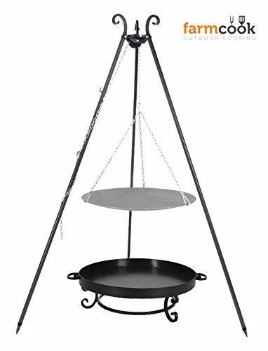 Dreibein mit Lagerfeuerpfanne 56 cm und Feuerschale Pan 32 60 cm online kaufen