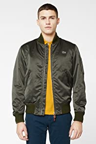 L!VE Satin Bomber With Zipper Detail
