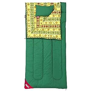 コールマン 寝袋 キングフラッグ/7 グリーン×ネイティブアメリカン柄 [使用可能温度7度] 170S0108J