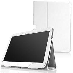 MoKo Samsung Galaxy Tab 3 10.1 Case - Slim Folding Cover Case for Samsung Galaxy Tab 3 10.1 Inch GT-P5200 / GT-P5210 Android Tablet WHITE (with Smart Auto Wake / Sleep Feature)