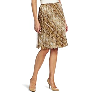 Jones New York Women's Pleated Skirt, Rum Multi, 10