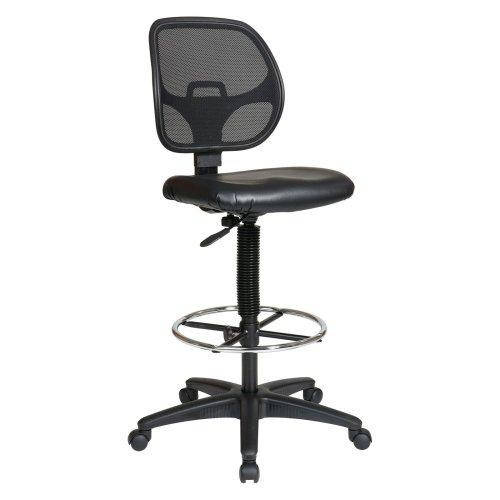 Height Adjustable Drafting Chair with Footring Seat Material: Vinyl Seat