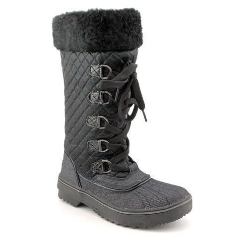 Baby Phat Squirt Boot Lace Up Womens Size 7.5 Black Winter Boots
