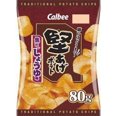 カルビー 堅あげポテト 焦がししょうゆ味 1箱(12袋入)